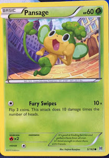 Pansage BREAKthrough Pokemon Card