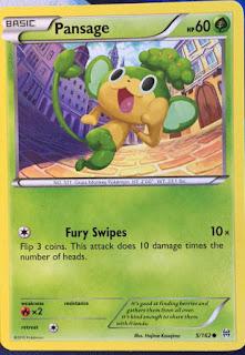 Pansage BREAKthrough Pokemon Card