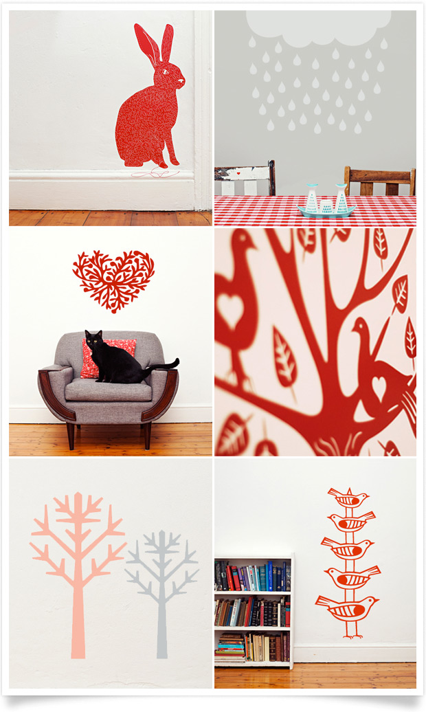 Mikado vinyl wall decals