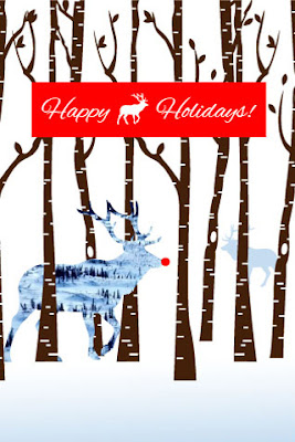 Chic and Sassy cellphone iphone xmas christmas reindeer wallpaper free
