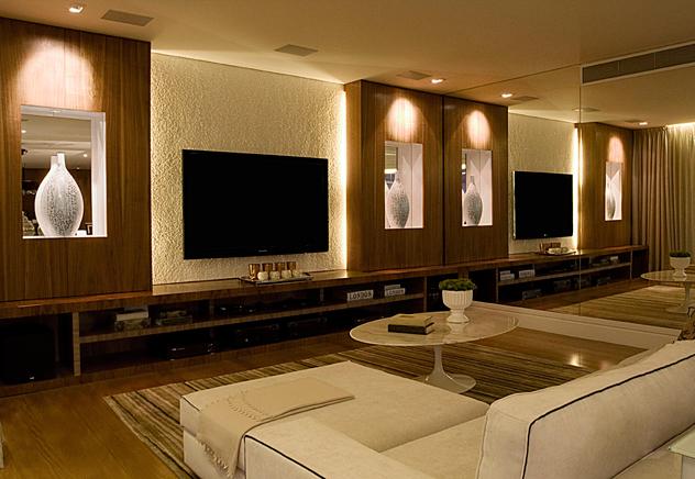 Iluminacao De Sala De Tv ~ Meu Cantinho Decorado Ambientes  Salas de TV #parte02