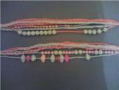 pulseiras de croche c miçangas