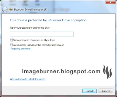 The next time you plug in your encrypted USB flash drive, you'll be prompted with this window that asks for your password to unlock the drive. As I mentioned earlier, you'll also have the option to automatically unlock it on the computer you are on so that you won't be asked of the password again every time you use your encrypted thumb drive.