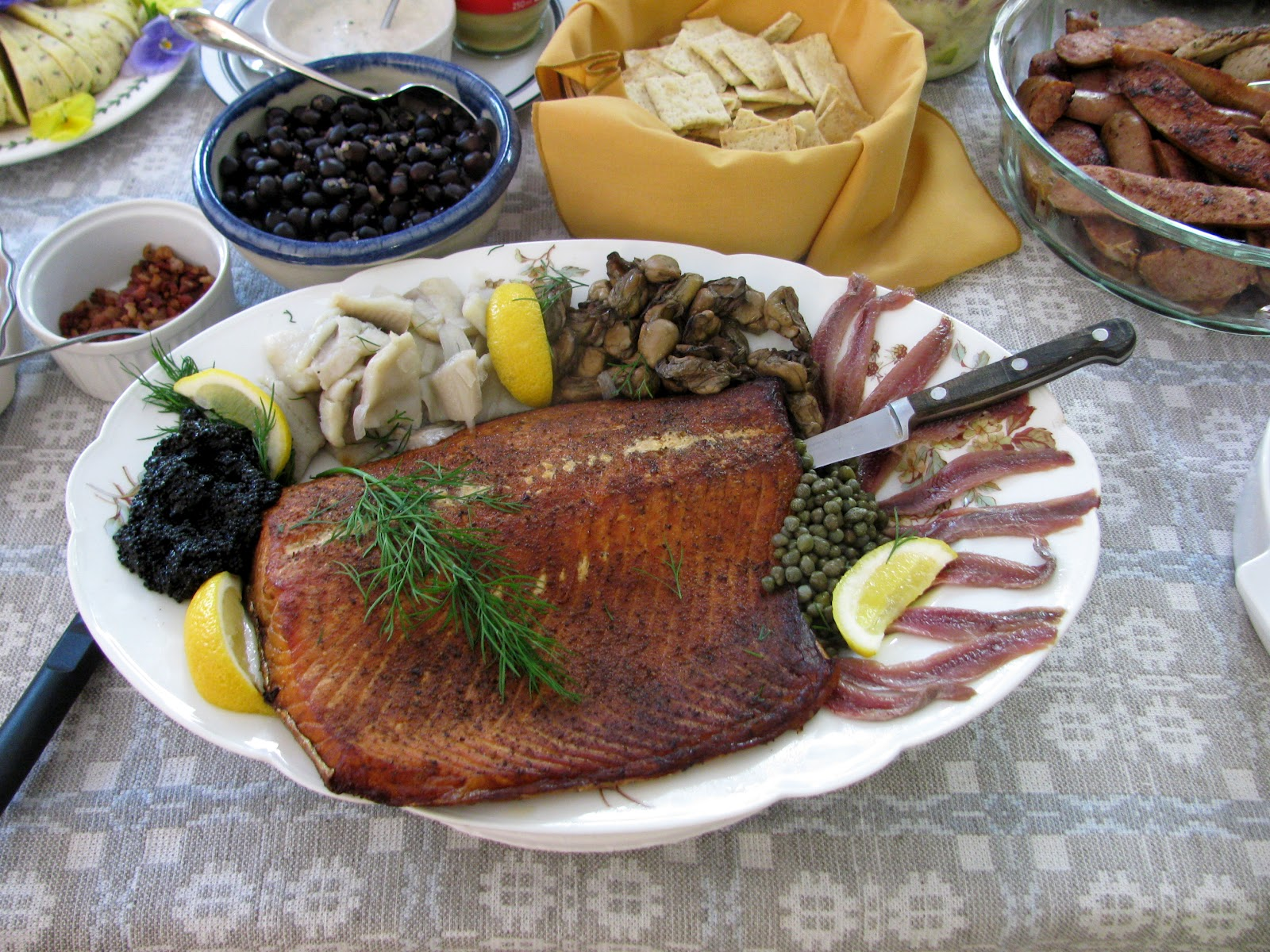This substantial feast was cappedoff with a huge decorative ...