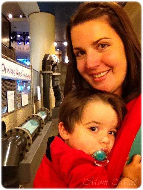 Baby wearing in my ErgoBaby Carrier at the Museum of Science and Industry