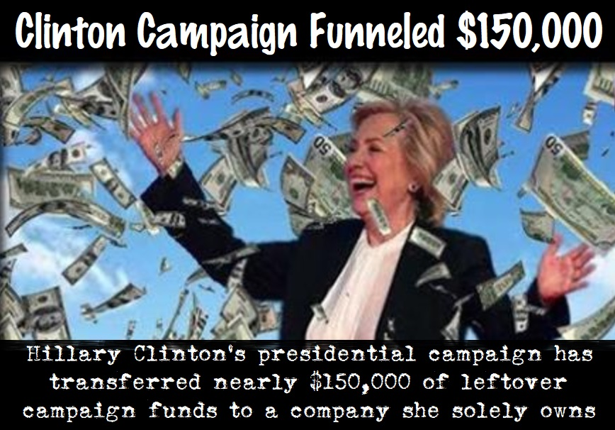Clinton Is Funneling Money To Her Pocket!