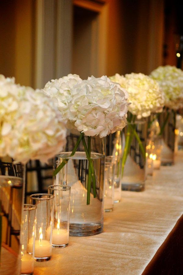 hydrangea - white flower arrangements centerpieces