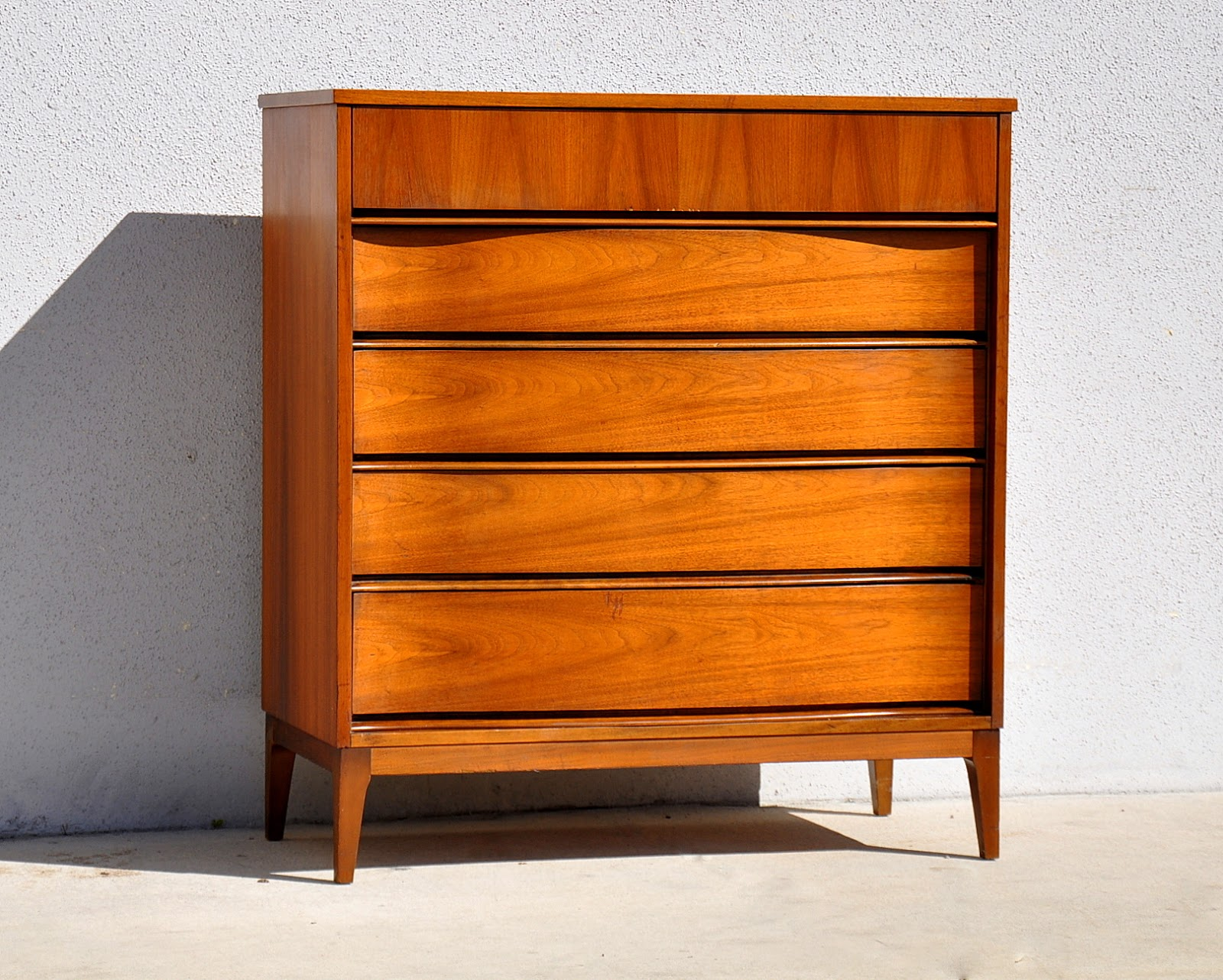 Mid Century Modern Highboy Dresser Chest Of Drawers