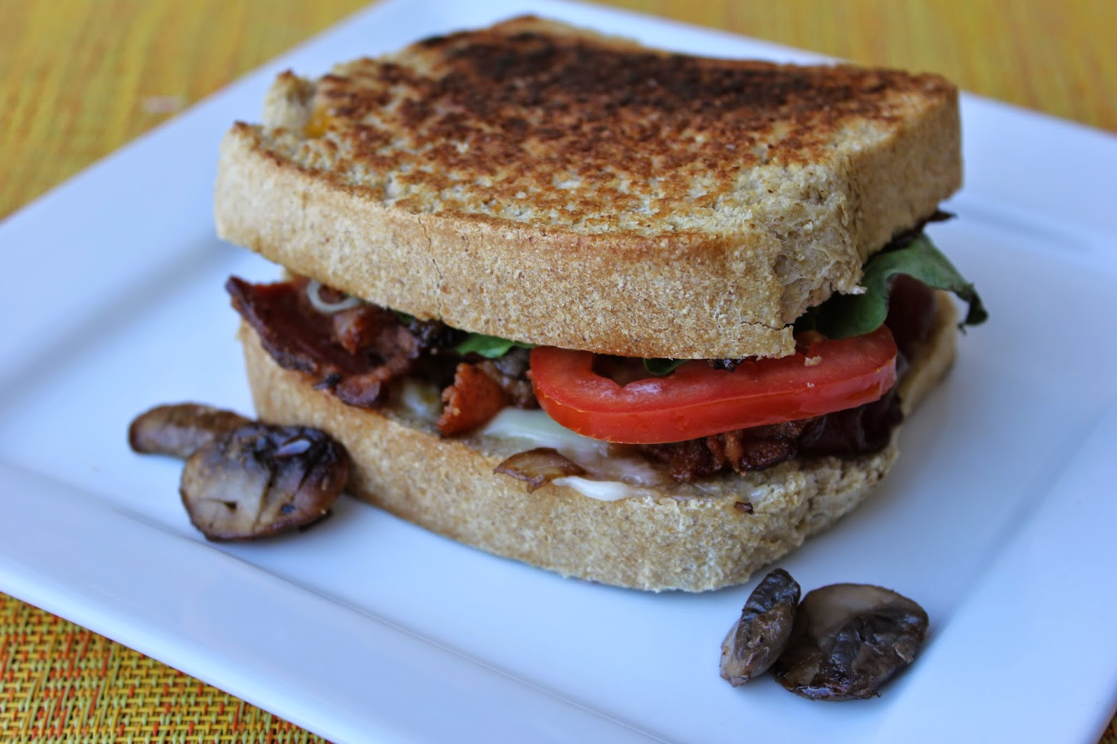 BLT's, BLT Mushroom Swiss Sandwiches, Recipe:  Sandwiches, Recipe:  Grains, Recipe:  Pork, bacon, Easy Meal Ideas, Deals to Meals,
