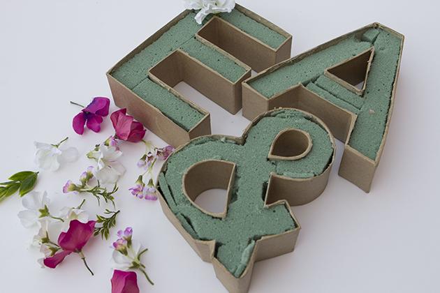 Decoracion Letras Carton ~ MuyVariado com Como Hacer Letras de flores, Manualidades Paso a Paso