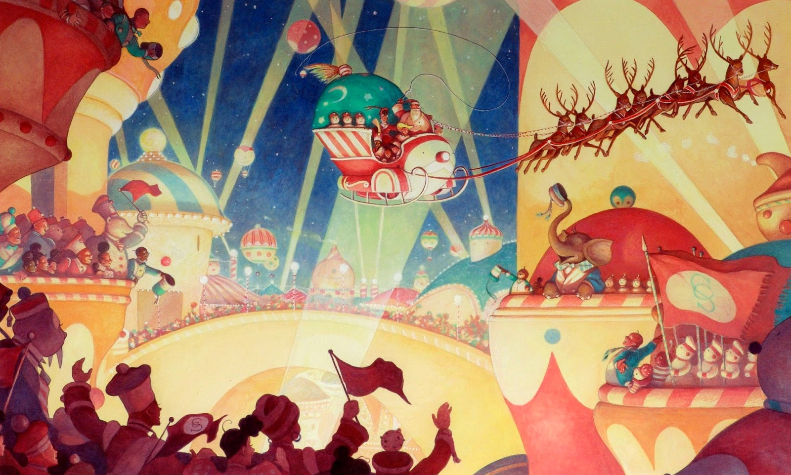 Awesome Santa Claus Wall Art Images - The Wall Art Decorations ...