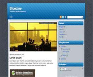 BlueLine Blogger Template