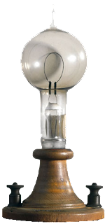 """Te desejo ma ótima ideia hoje! """"É possível imaginar a revolução que a primeira lâmpada causou?"""""""