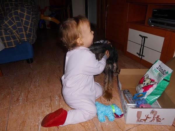 abrazo amoroso a su perrita