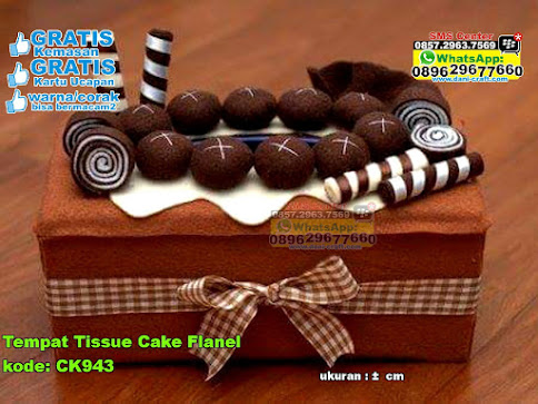 Tempat Tissue Cake Flanel