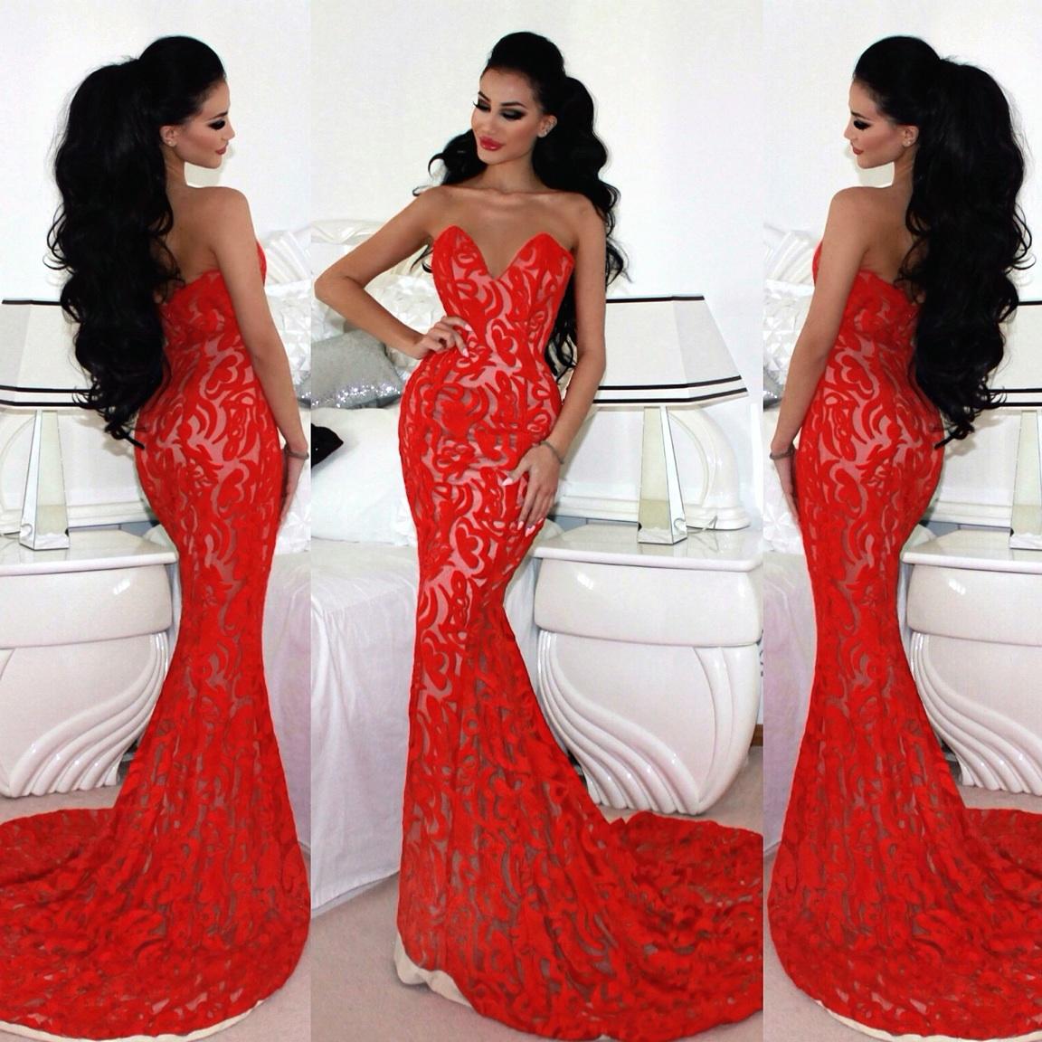 Секс мама к красном платье 13 фотография