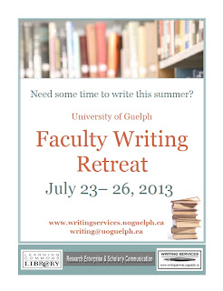 Poster for the faculty Writing Retreat