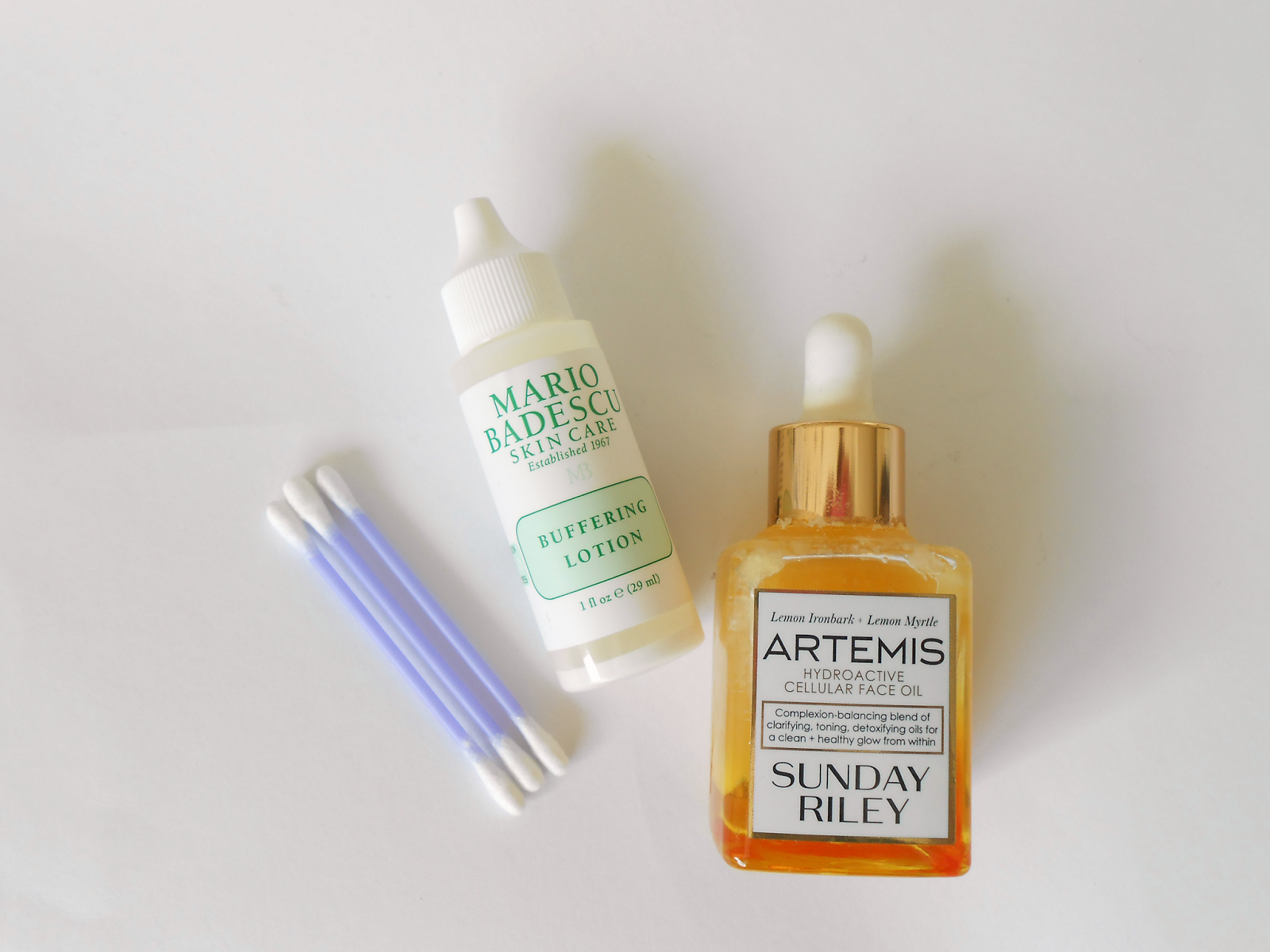 Anti Acne Products from Mario Badescu and Sunday Riley