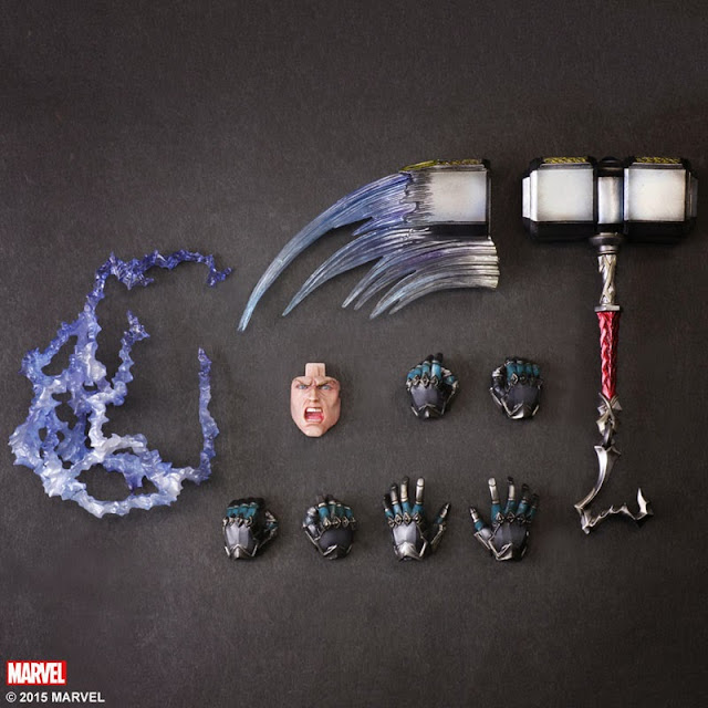 action figure marvel superheroes play arts thor