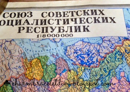 Vintage Russian Wall Map