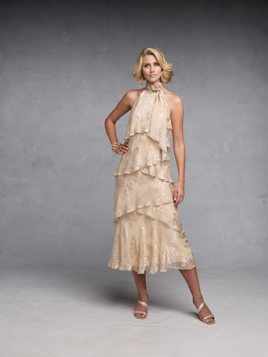 Tea-length Mother of The Bride Dresses