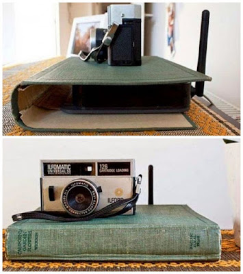 Sampul buku tua bisa merapikan router internet