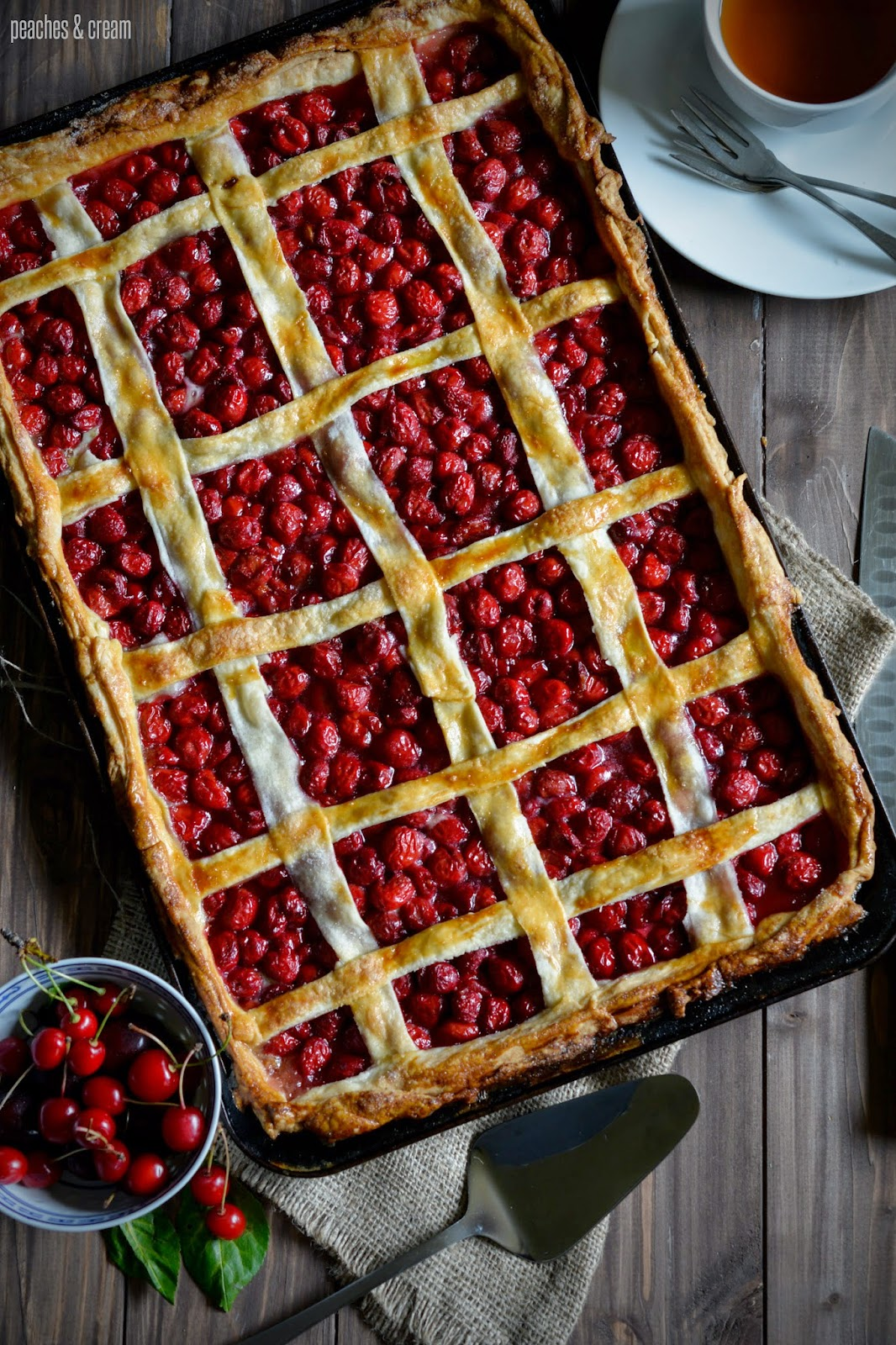 Sour Cherry Slab Pie Recipe — Dishmaps