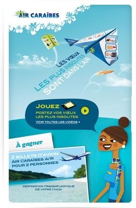 Jeu air caraibes voeux insolites vid o 2 voyages - Vol paris port au prince air caraibes ...