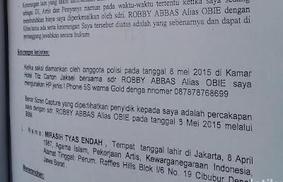 BAP Polisi Bocor, Tyas Mirasih Terbukti 'Jualan' di Prostitusi Artis