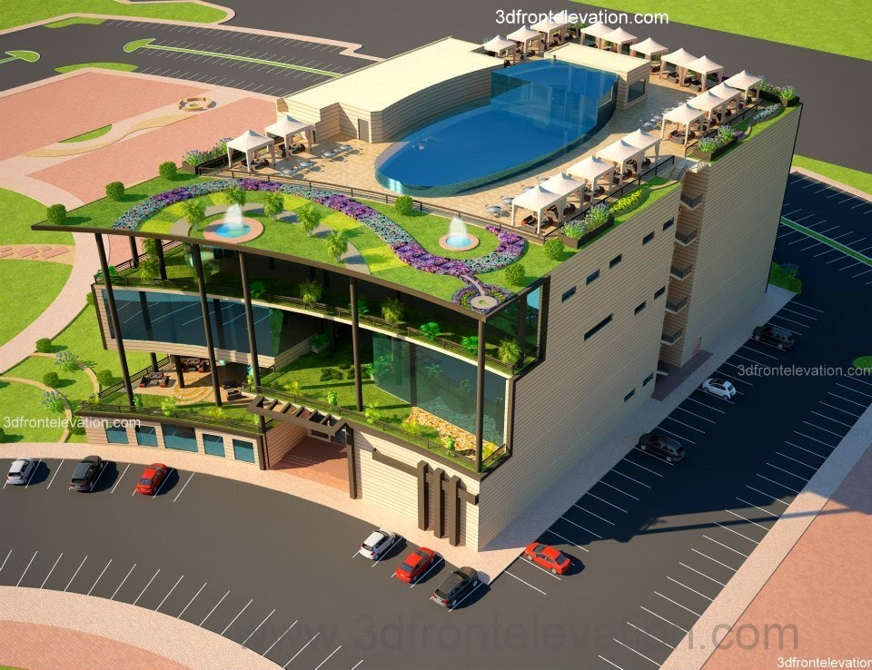 3D Front Elevation.com: COMMUNITY Center in Lahore Pakistan from ...