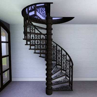 My sims 3 blog iron spiral staircase by pocci - Spiral staircase wrought iron ...