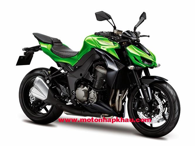 Kawasaki Z1000 ABS 2015 Mau Xanh
