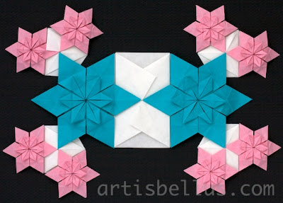 Origami Quilt - Blue-Eyed Grass Flowers - New Video