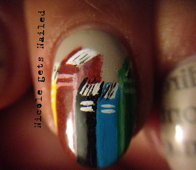 Newspaper Nails Books Nail Art