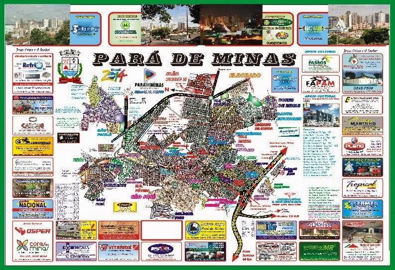 Planta Cartográfica Oficial de Pará de Minas 2014