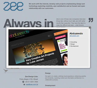 The process of creating the site: Zee Site