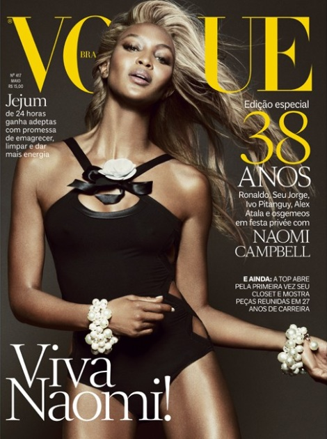 Naomi Campbell Goes Blonde for Vogue Brazil May 2013