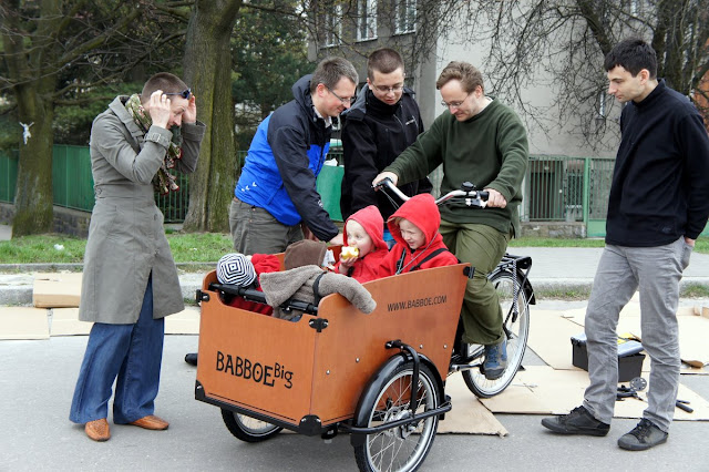 rower towarowy z dziećmi w krakowie