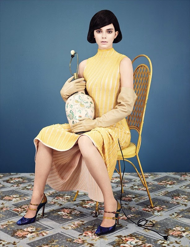 Woven dress by Salvatore Ferragamo; shoes by Mary Katrantzou; gloves stylist's own  Photography Ben Toms, styling Robbie Spencer everyday like this kendall jenner