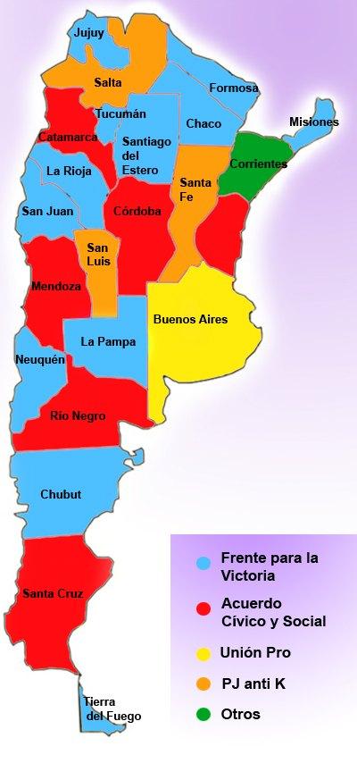 pz c mapa de argentina