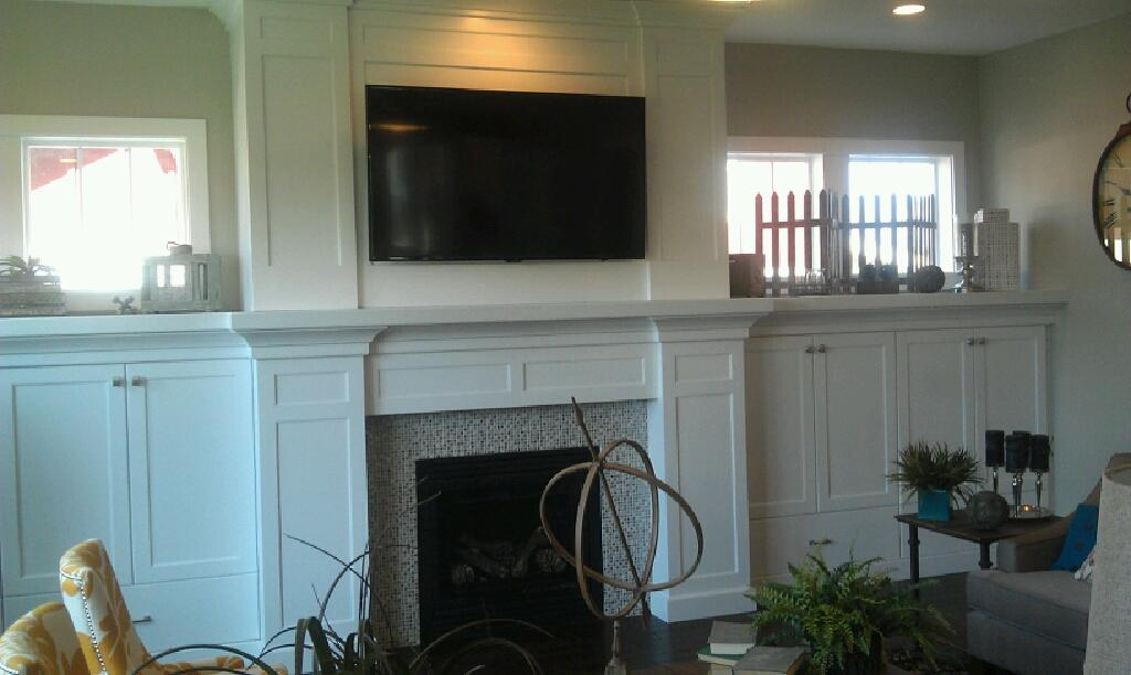 This Is The Same Room Facing The Other Direction. I Love Those Built Ins!  As You Can Probably Tell From This View, The House Was A Craftsman Style  Home, ...