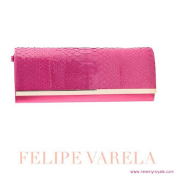 Queen Letizia Style FELIPE VARELA Clutch Bag and  MAGRIT Sandals