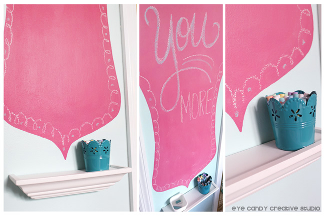 love you more, after pics of chalkboard custo design, hot pink chalkboard