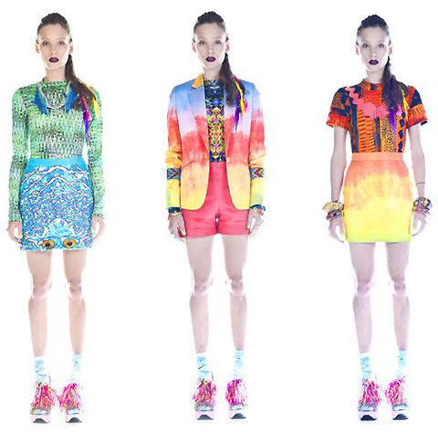 Psychedelic fashion by Emma Mulholland