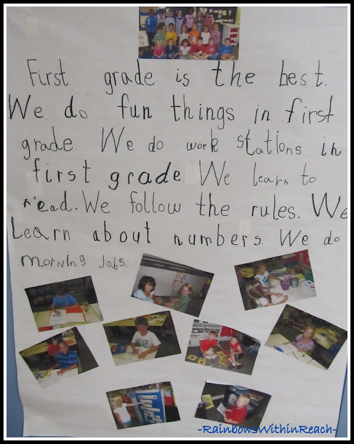 photo of: First Grade Bulletin Board of Behavior (Bulletin Board Round-UP via RainbowWithinReach)