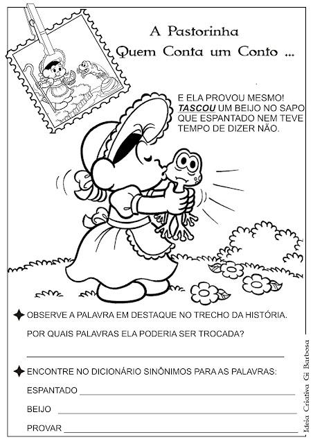 Atividade Sinônimo Temática / A Pastorinha Contos de Fada