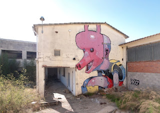 aryz, mural, street art, enlarged, huge, building