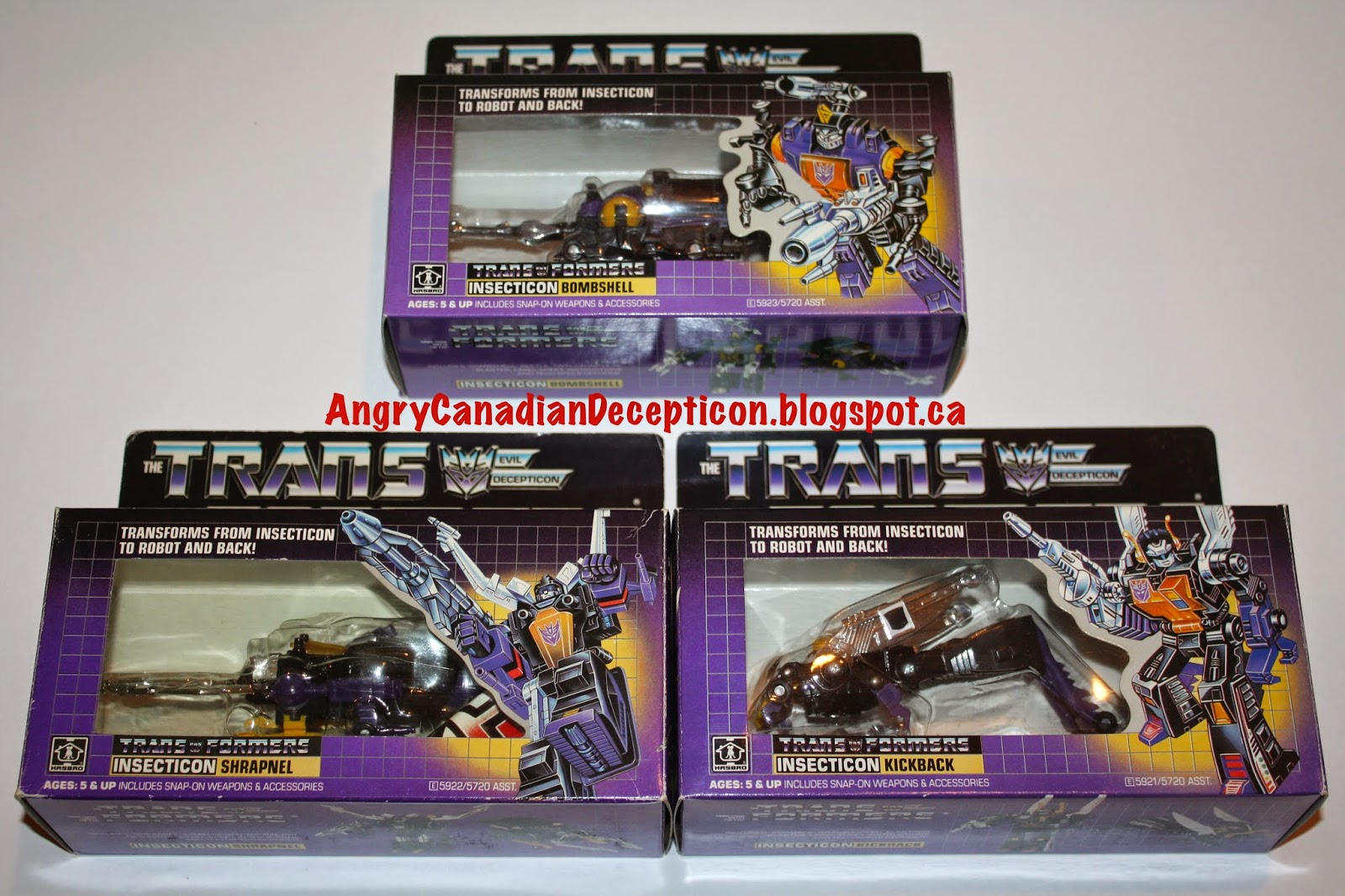 Transformers g1 Insecticons g1 Insecticons Bombshell