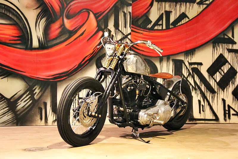 Modifikasi Motor Harley-Davidson Dyna Super Glide Old School