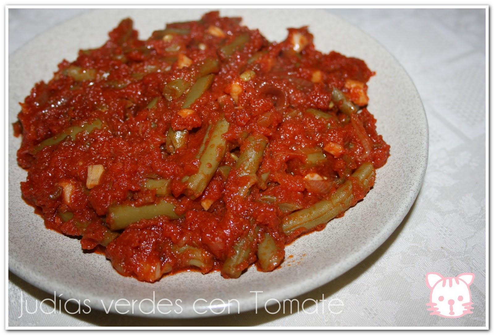 Jud as verdes con tomate ma cuisine particulier - Tiempo coccion judias verdes ...